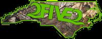 252 state sticker decal neon green