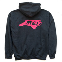 Dark Heather & Hot Pink Hoody