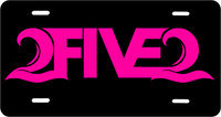 black and hot pink 2five2 nc license plate