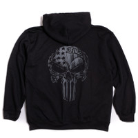 Black & Grey USA Skull Hoody