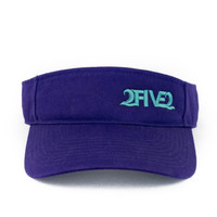 252 purple seafoam green visor