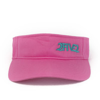 252 pink seafoam green visor