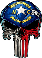 NC Skull Sticker (Large)