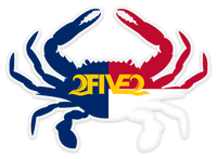 NC Crab Flag Sticker