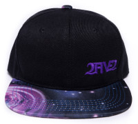 252 Black & Purple Galaxy Flatbill Hat