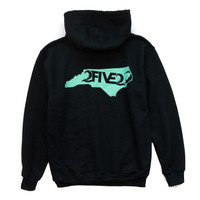 Black & Seafoam Green Hoody