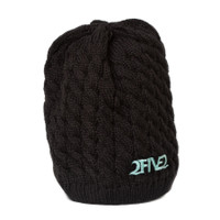 252 black and seafoam green beanie