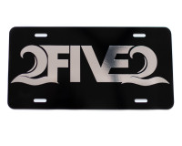 252 black and chrome license plate