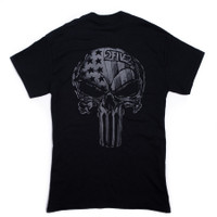 252 black skull usa tshirt