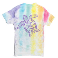 Rainbow Sea Turtle Tie-Dye T-Shirt