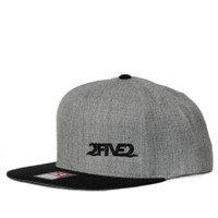Heather Grey & Black Wool Flatbill SNAPBACK