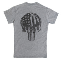 Sport Grey & Black USA Skull Tshirt