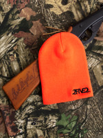 Blaze Orange & Black Beanie