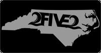 Black & Silver NC License Plate