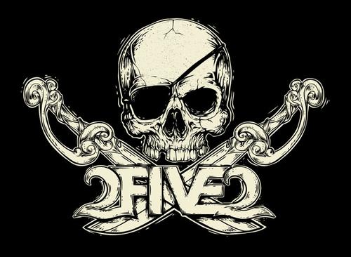 2FIVE2 Pirate Skull Sticker OBX