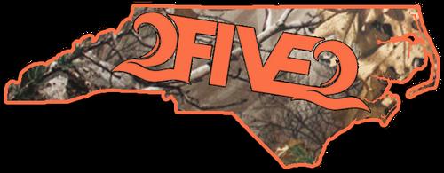252 nc camo orange sticker