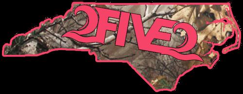 252 state sticker decal pink
