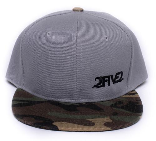 252 Gray Camo Flatbill Snapback Hat