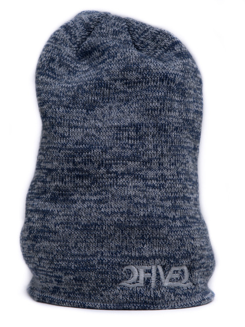 2five2 Navy, Grey, White Marled Slouch Beanie