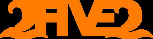neon orange 2five2 decal sticker