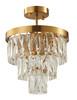 LIGHTING JUNGLE OC37C12G 4-Light Semi Flush Mount, Gold
