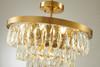 LIGHTING JUNGLE OC36C20G 6-Light Semi Flush Mount, Gold