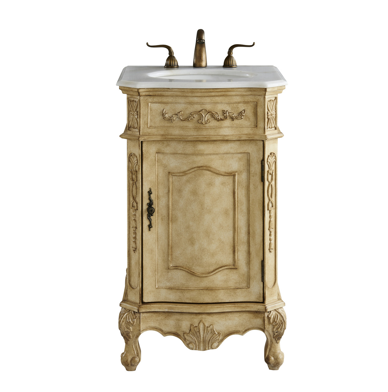Swell Elegant Decor Vf10121Ab 21 In Single Bathroom Vanity Set In Antique Beige Download Free Architecture Designs Intelgarnamadebymaigaardcom