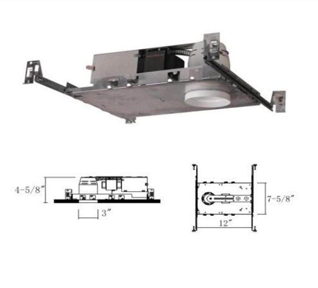 """3"""" Low Voltage Non-IC Housing For New Construction"""