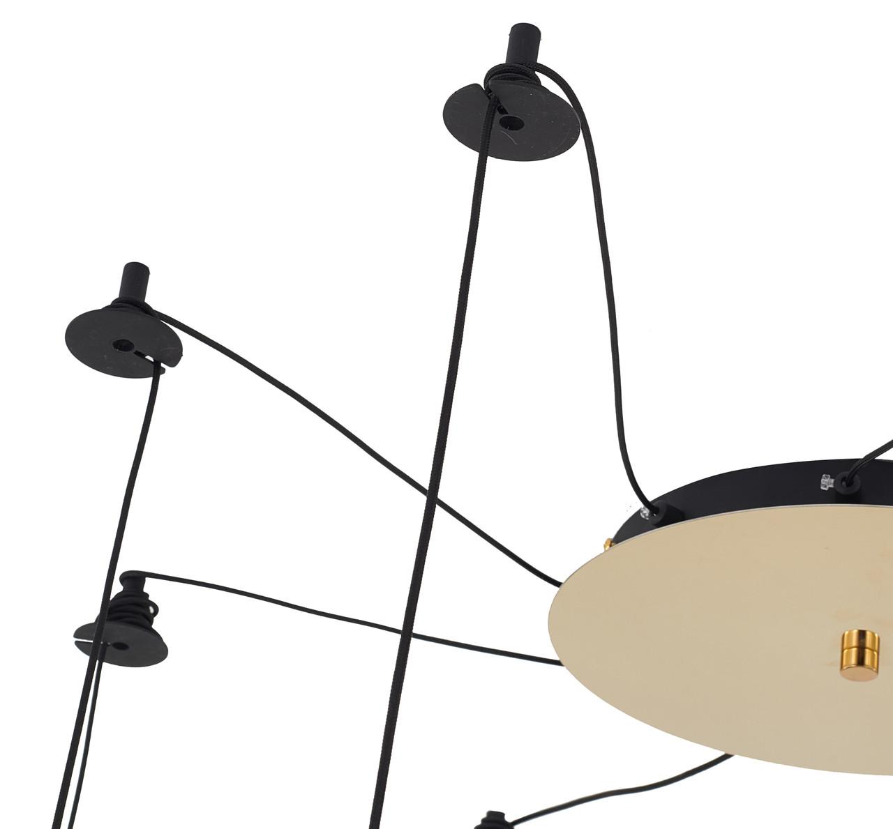 LIGHTING JUNGLE MU82C32BR 9-Light Chandelier ,Gold