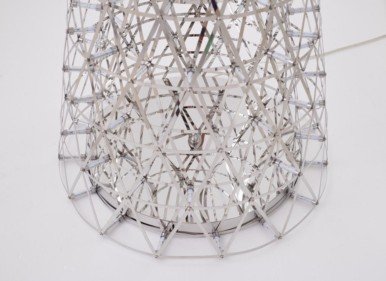 Bethel International  BE26F63C 255-Light LED Floor Lamp Chrome