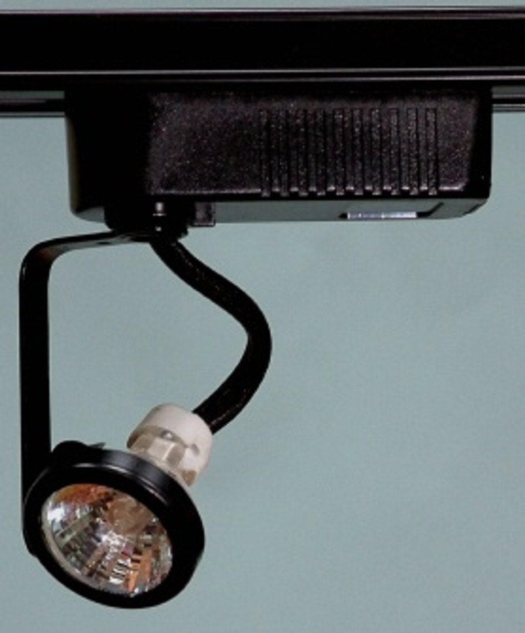 Black Gimbal Ring MR16 Low Voltage Track Light