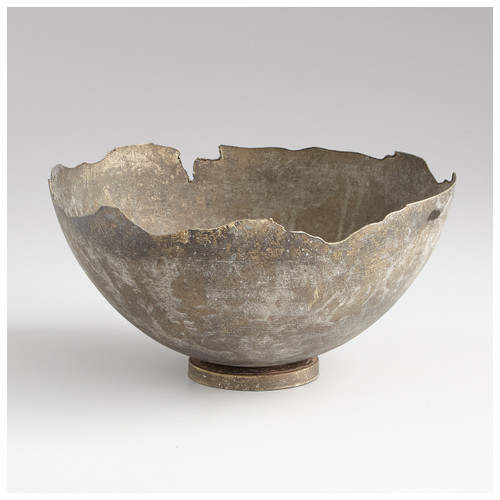 CYAN DESIGN 07958 Small Pompeii Bowl, Whitewashed
