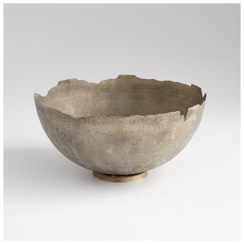 CYAN DESIGN 07960 Large Pompeii Bowl, Whitewashed