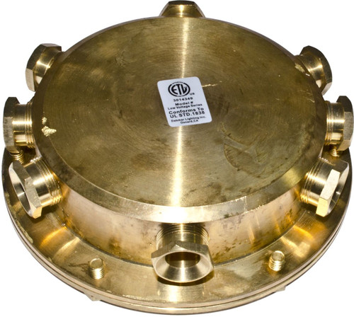 DABMAR LIGHTING UWB-8 Underwater Junction Box, Brass
