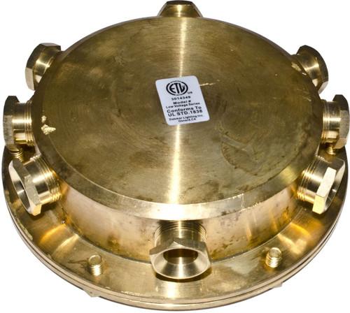 DABMAR LIGHTING UWB-8 Underwater Junction Box, Brass