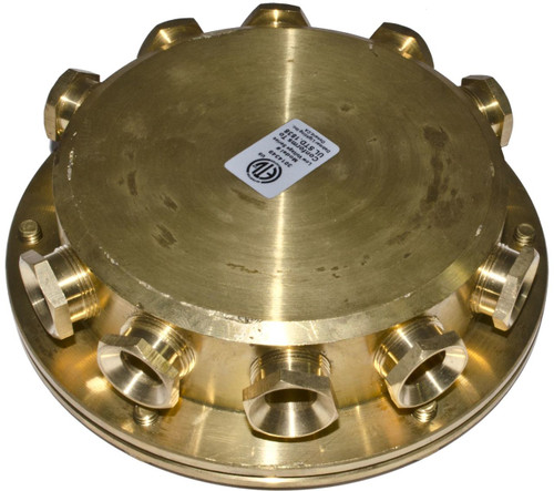 DABMAR LIGHTING UWB-10 Underwater Junction Box, Brass