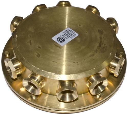 DABMAR LIGHTING UWB-10 Underwater Junction Box, Brass