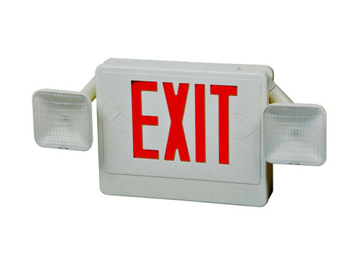 Howard Lighting Slimline Thermoplastic LED Exit Sign Battery Backup HL0301B2RW