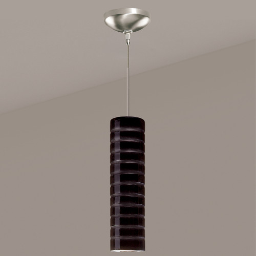 A19 Lighting LVMP03-BG 1-Light Strata Mini Pendant Black Gloss