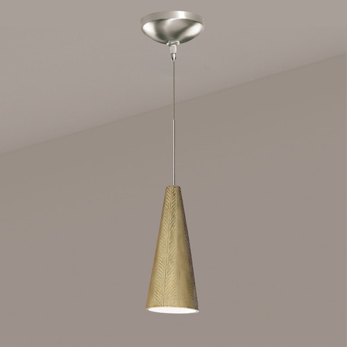 A19 Lighting LVMP04-SG 1-Light Fossil Mini Pendant Sagebrush