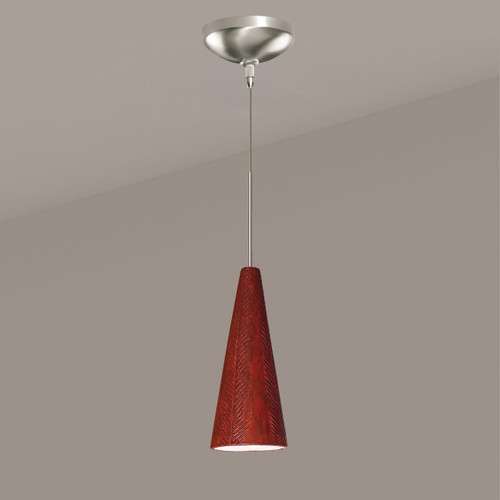 A19 Lighting LVMP04-RR 1-Light Fossil Mini Pendant Red Rock