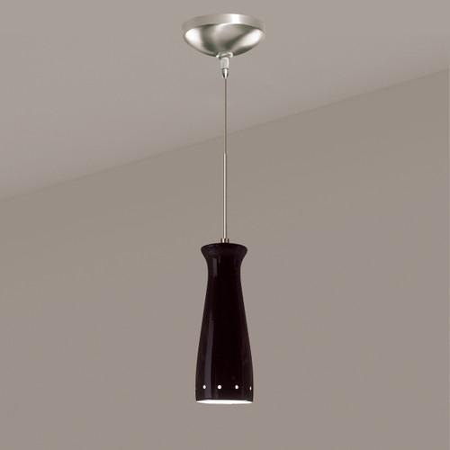 A19 Lighting LVMP07-BG 1-Light Pilsner Mini Pendant Black Gloss