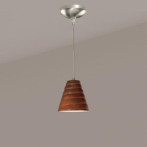 A19 Lighting LVMP12-BT 1-Light Vortex Mini Pendant Butternut