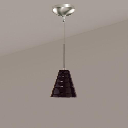 A19 Lighting LVMP12-BG 1-Light Vortex Mini Pendant Black Gloss