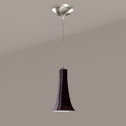 A19 Lighting LVMP14-BG 1-Light Eiffel Mini Pendant Black Gloss