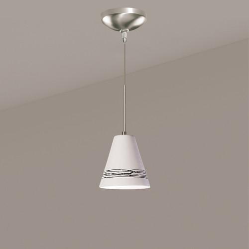 A19 Lighting LVMP15-WG 1-Light Strands Mini Pendant White Gloss