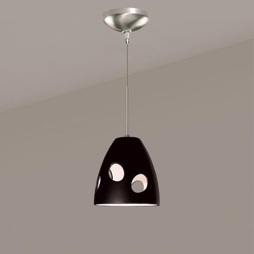 A19 Lighting LVMP16-MB 1-Light Milano Mini Pendant Matte Black