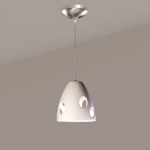 A19 Lighting LVMP16-WG 1-Light Milano Mini Pendant White Gloss