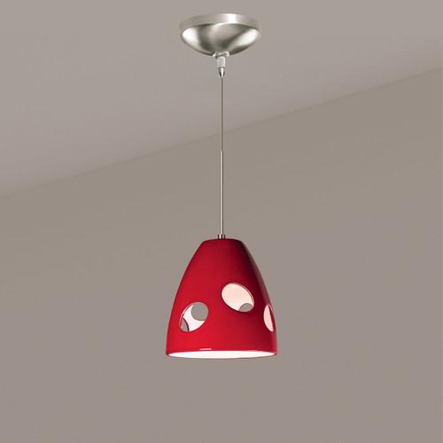 A19 Lighting LVMP16-MR 1-Light Milano Mini Pendant Matador Red