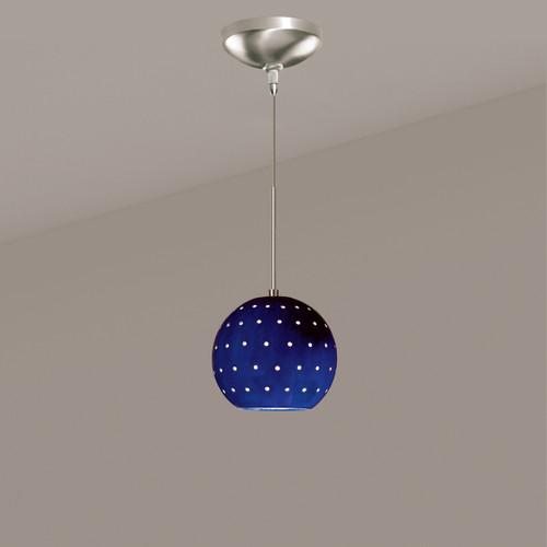 A19 Lighting LVMP17-CB 1-Light Lunar Mini Pendant Cobalt Blue
